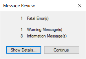 Most analysis errors finish with such a wonderful window :)